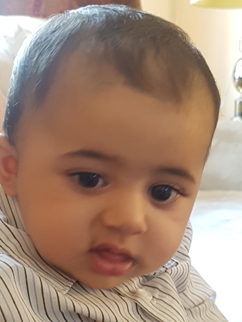 Baby Qasim, 6 months