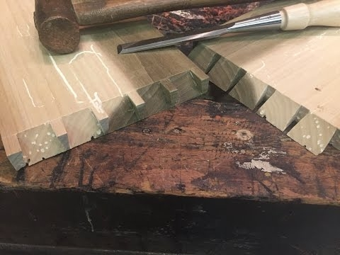 How to cut Half Mitered Dovetails!