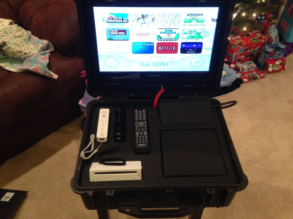 A Portable Wii System I Built the Kids!