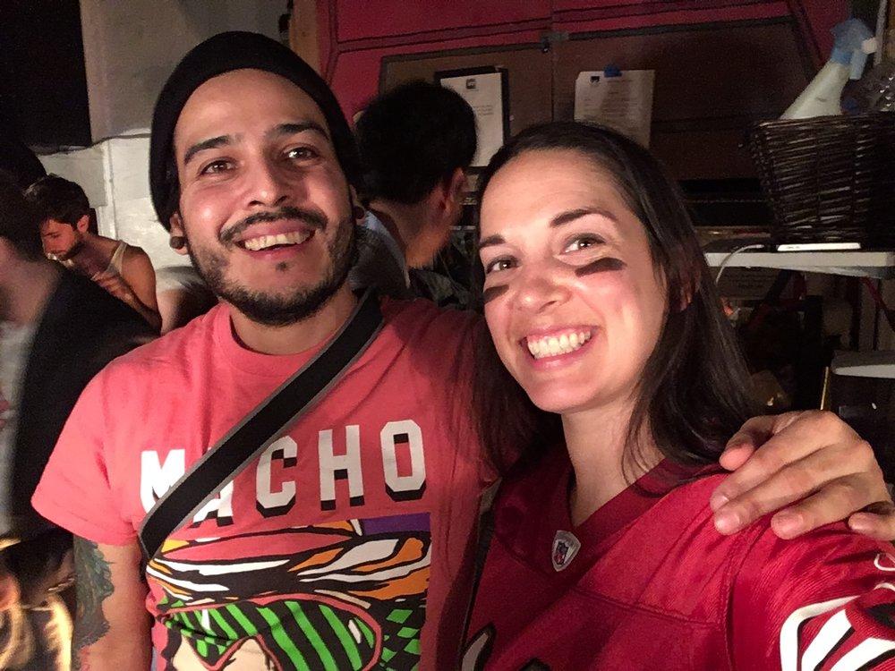 Co-Producer Mario and I at January Shotz show.