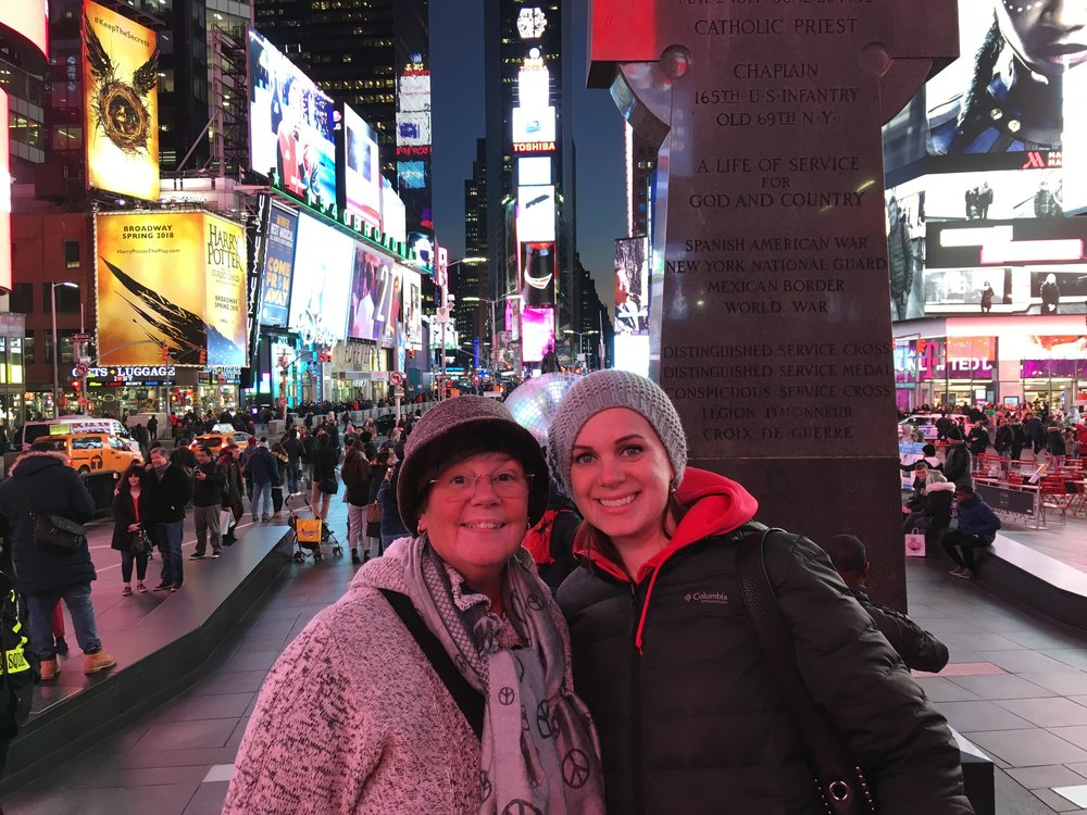A Mom and Sister visit to NYC for Valentine's Day