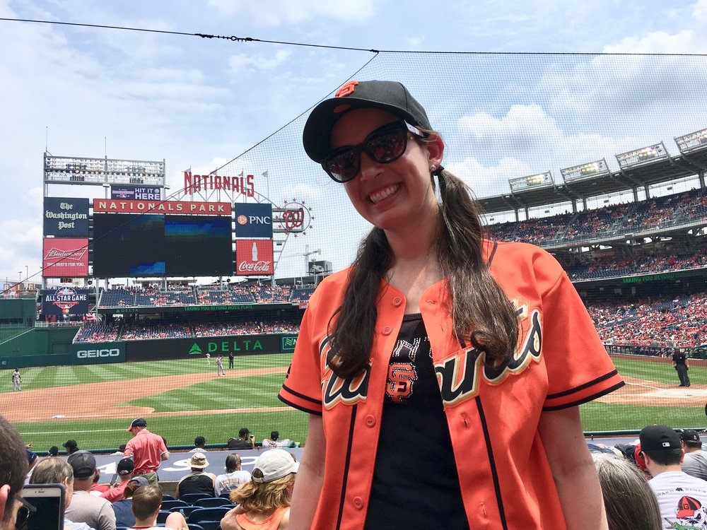 Watching the Giants at Nationals Park! (photo: fellow Giants fan)