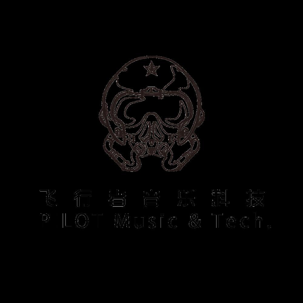 pilot logo飞行着音乐科技黑色.png