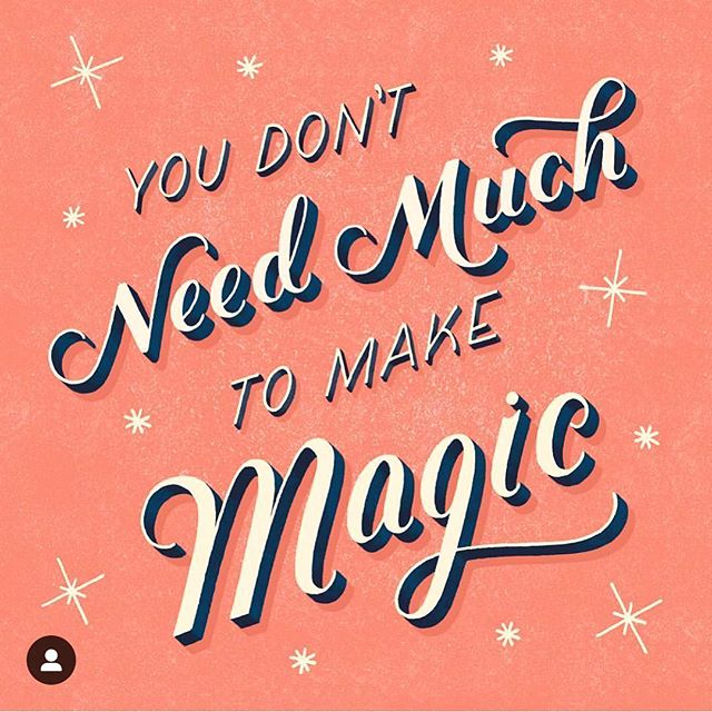 Reposting this artwork from the incredible @homsweethom – she's a powerhouse of a creative and quite an inspiration. & This is so true – we don't need much to make magic in our lives! When we stop giving into limiting beliefs and push beyond our fears, that's when all the juicy, magical stuff happens ✨