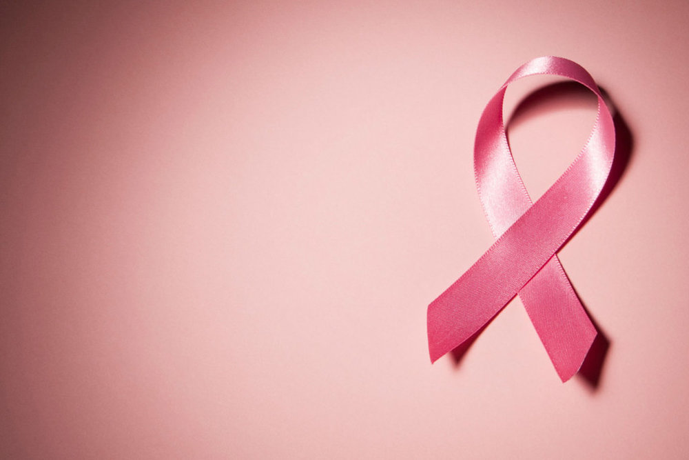 Pink ribbon symbol for breast cancer