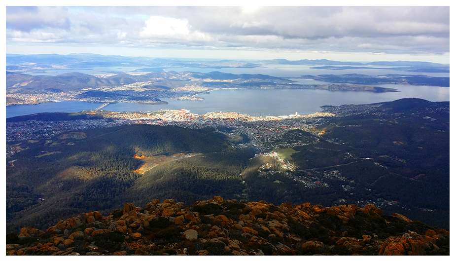 Hobart, from Mount Wellington, Tasmania. October 2017