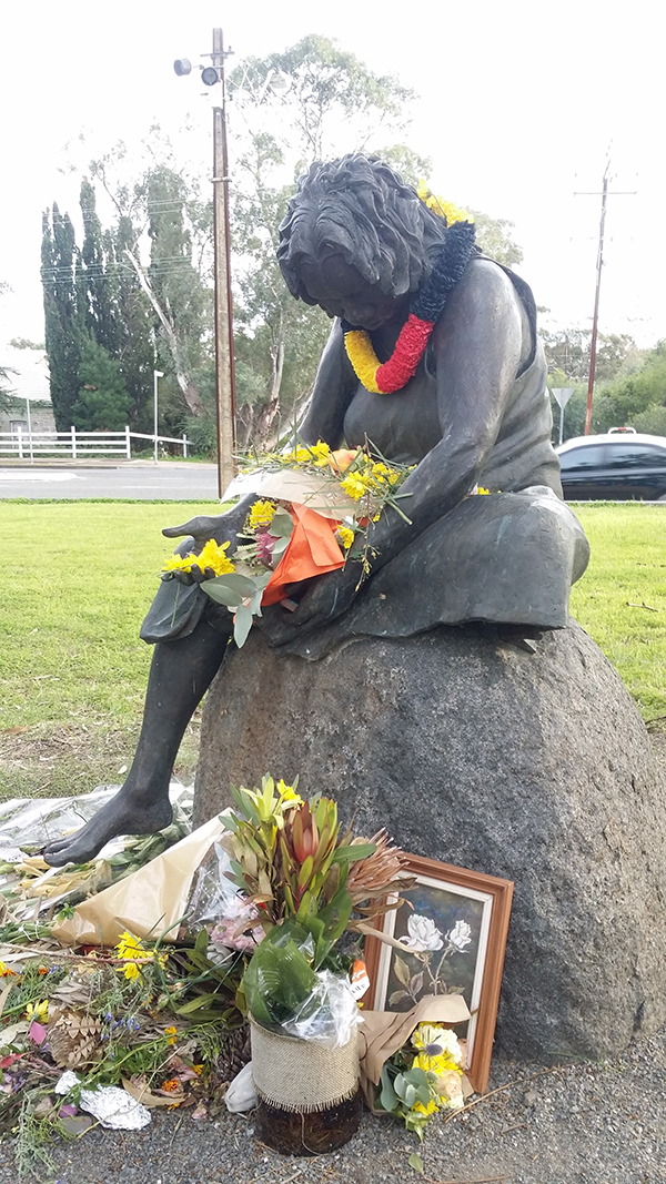 The weeping mother, Colebrook Reconciliation Park, Adelaide.