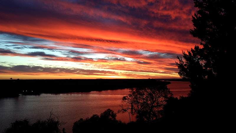 Murray River Sunset, Tailem Bend, South Australia Photo  AJS 2014