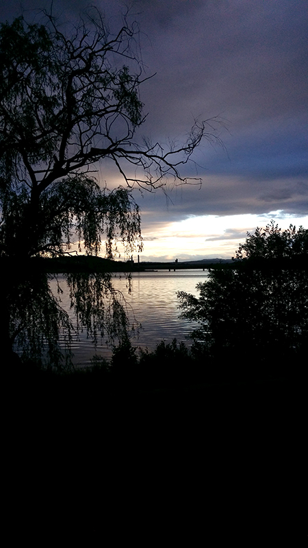 Sunset over Lake Burley Griffin, A.C.T. Photo AJS November 2011