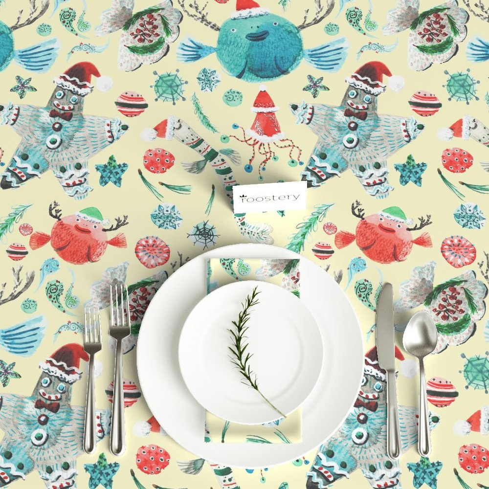 ChristmasOceanPatternCreamTableCloth.jpg
