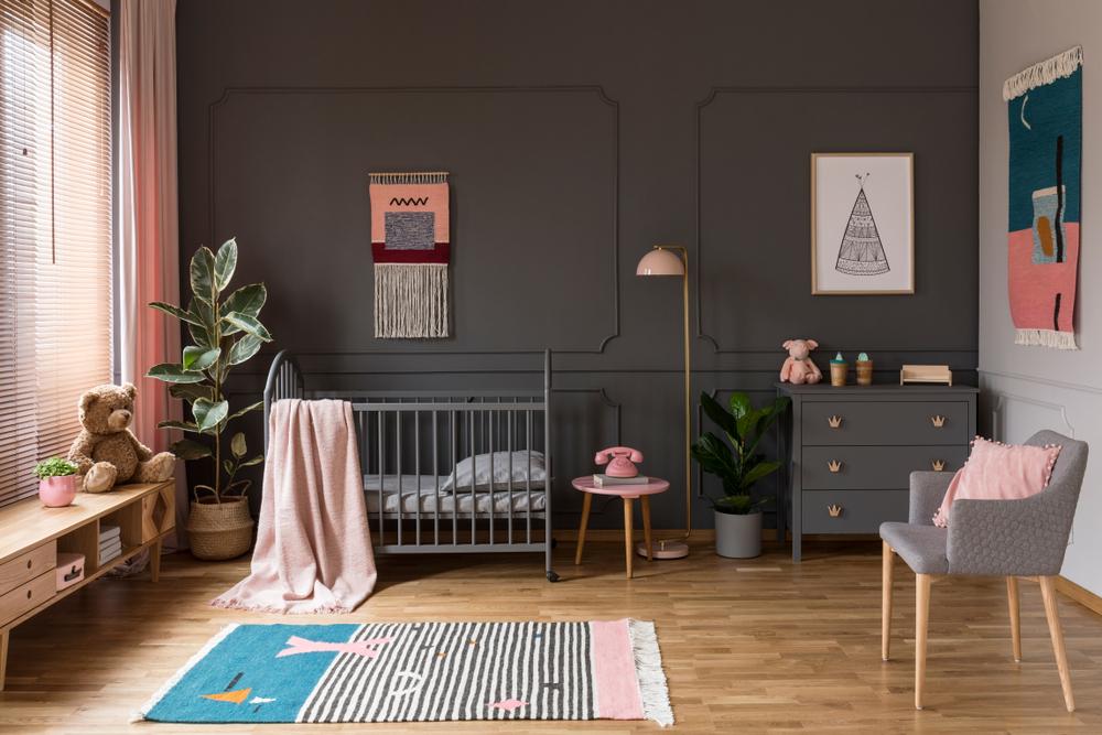 Dark & Dramatic Baby Nursery