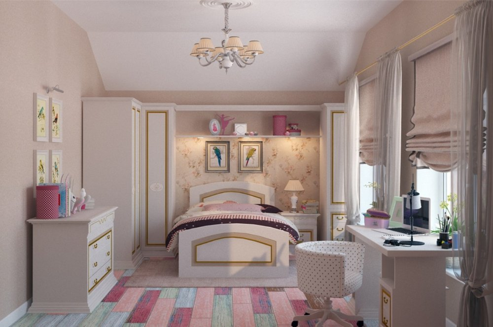 Neutral & Timeless Teenage Girl's Bedroom