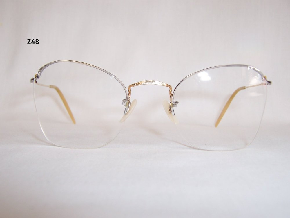Gold filled semi-rimless glasses - £60