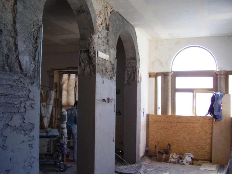 The Loggia in the midst of reconstruction at the Villa Fiske Apt.…