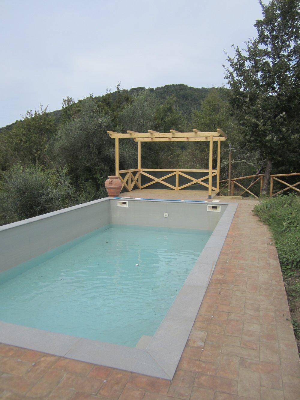 Swimming pool and pergola at Biancan…