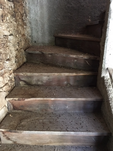 Old stairs in the apt. of the main tower at the Fortress…