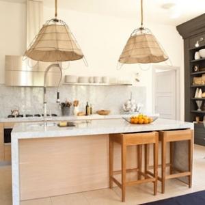 Kitchen of the open-plan apt. of Villa Fiske…