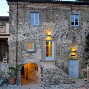 La Casa Grande of Il Poggiolo at dusk…