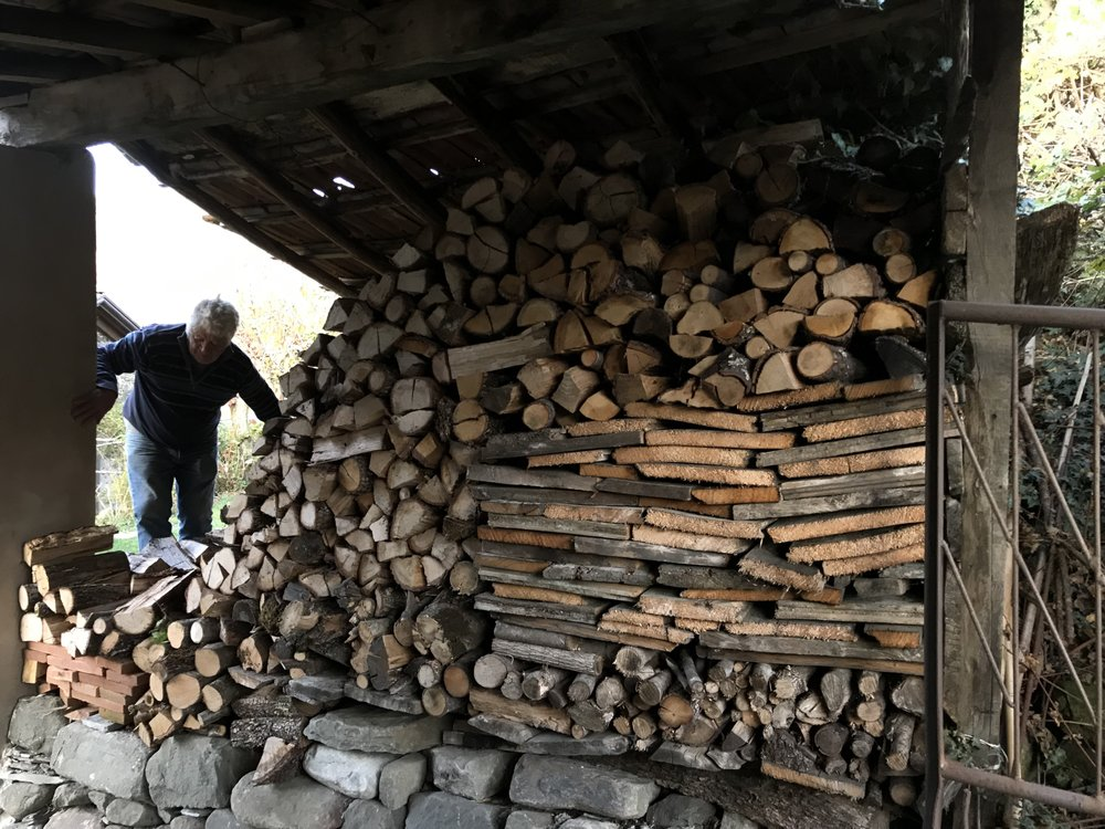 Firewood stacked and ready for the Winter, come what may…