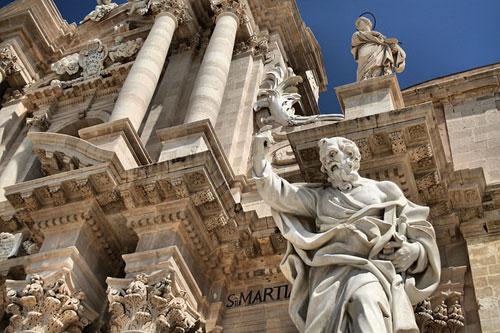 Il Duomo in Siracusa, Sicilia.