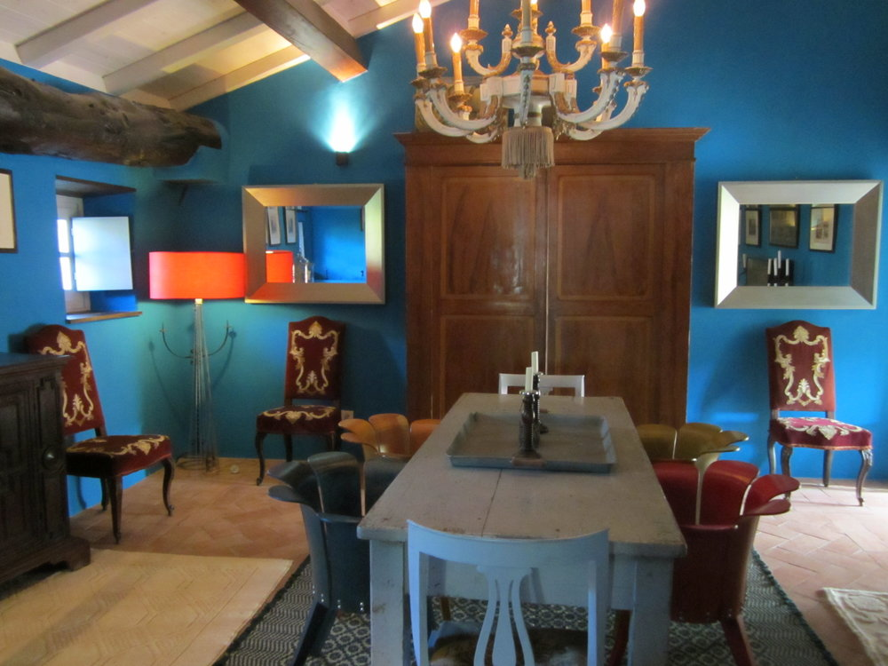 The Dining Room with a mix of the antique with the contemporary.