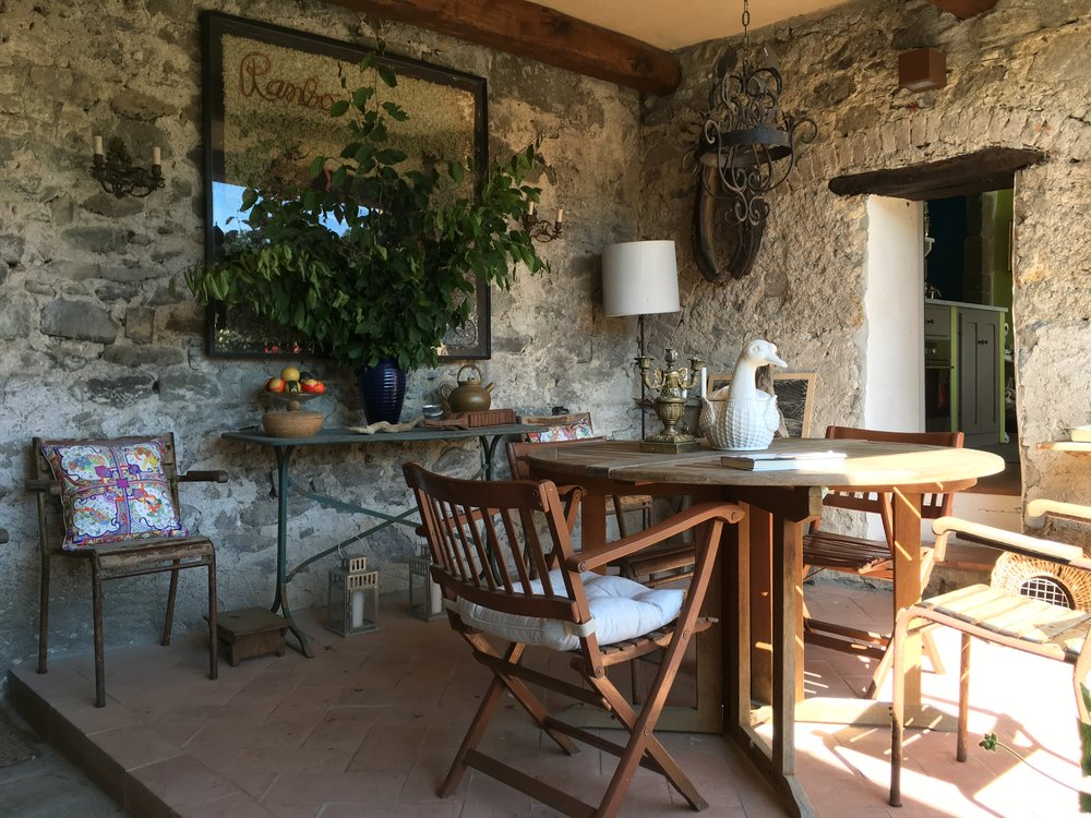 The Loggia and pass-through into the Kitchen of La Casa Grande.