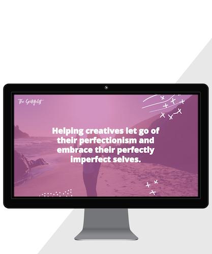 Squarespace webdesign for The Gratefulist, www.thegratefulist.com