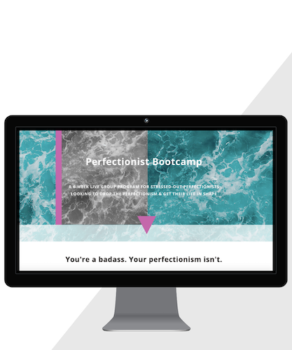 Squarespace webdesign for Perfectionist Bootcamp, www.perfectionistbootcamp.com