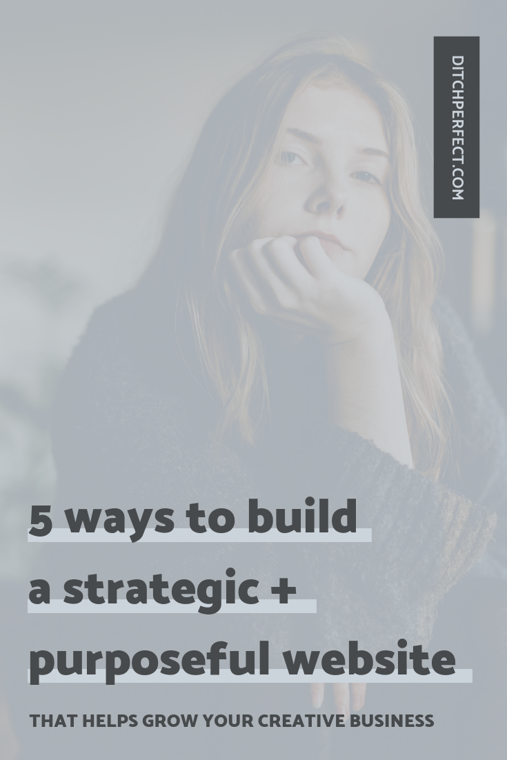 I bet creating an intentional online space for your creative business is something you've been dreaming about. A Squarespace website that's both strategic and purposeful + that helps grow your creative business. As a Squarespace web designer, I've come up with a few website design tips + 5 ways you can create a strategic website #onlinecreatives #creativeentrepreneur