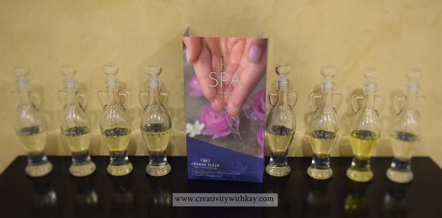 qatar-blogger-spa-day-charmedorient-crowne-plaza-doha-oils