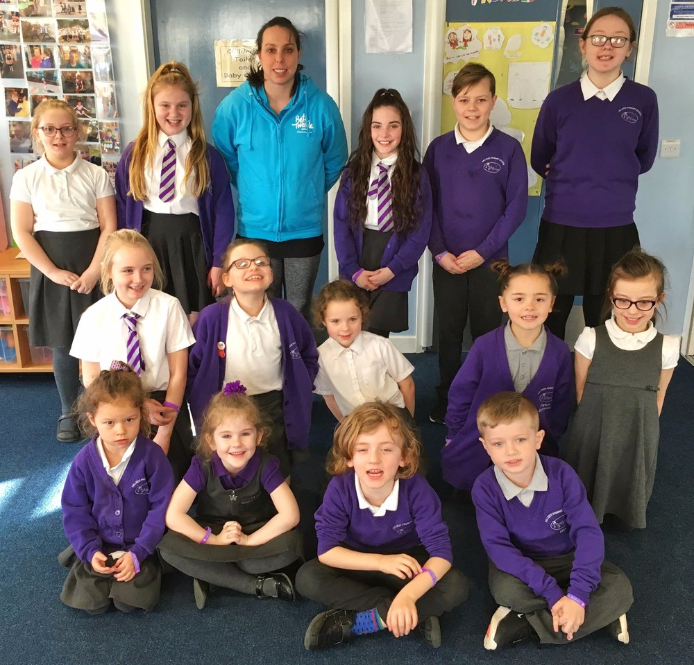 Olympic medal-winning gymnast Beth Tweddle visited our Hillside Active Award winners in February 2019.