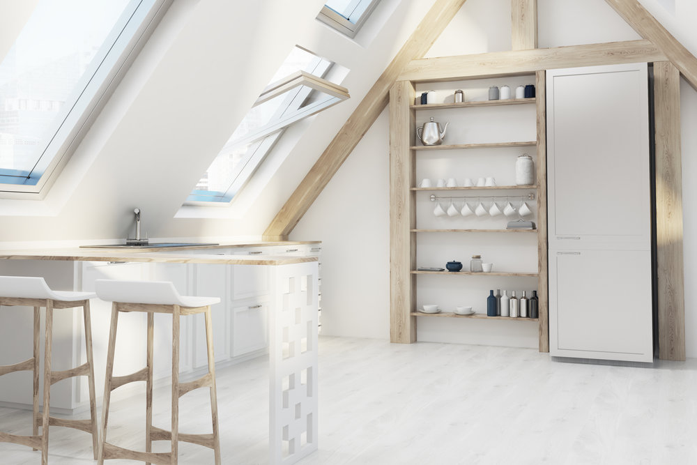 Loft-Attic-Kitchen-Interior