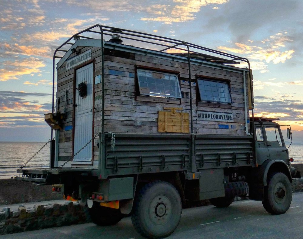 Home - The lorry is a Tiny Home. 72 square feet of freedom. Check out how I built it here.