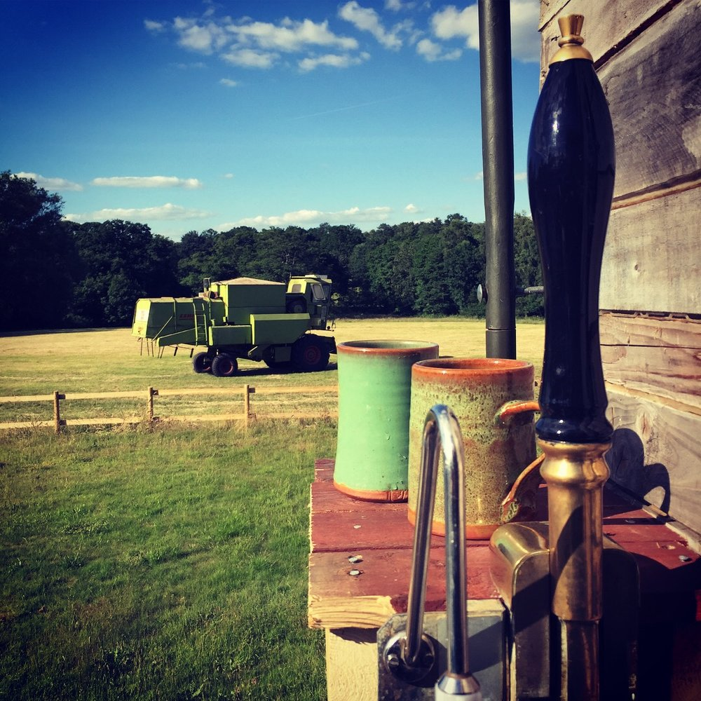 We have a Bar!!! - One of the best additions to the lorry is the Beer Engine on the back.