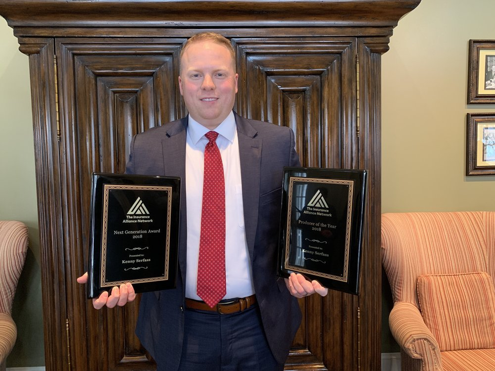 Kenneth Serfass of Miers Insurance received both the Next Generation Award and Producer of the Year Award, and also won the drawing for the Grand Prize.