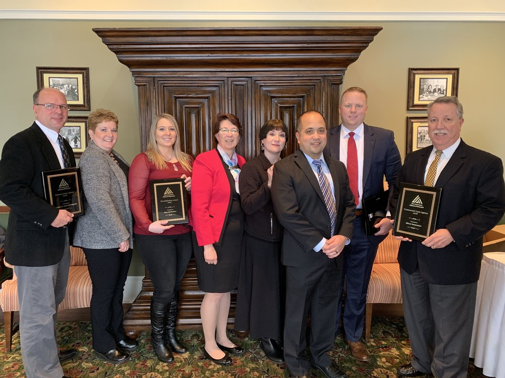 Congratulations to all our winners! (Jim Pace (Christian-Baker Company), Rita McMullen, Jess McMullen (PDM Insurance), Jane Koppenheffer (The Insurance Alliance Network), Edit Aguila, Tony Longo (Selective Insurance), Kenny Serfass, Doug Gibbons (Miers Insurance)
