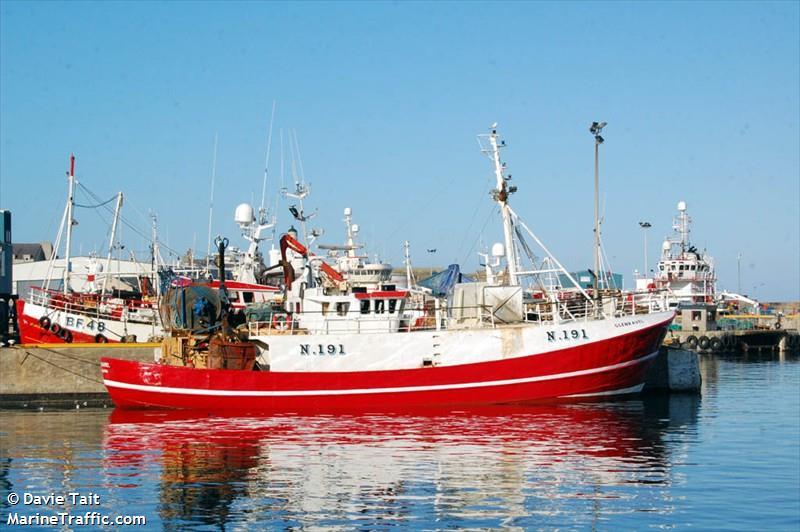 GLENRAVEL N191   Type: Metal Hull Trawler  Size: 26.25m  Built: 1968; Holland