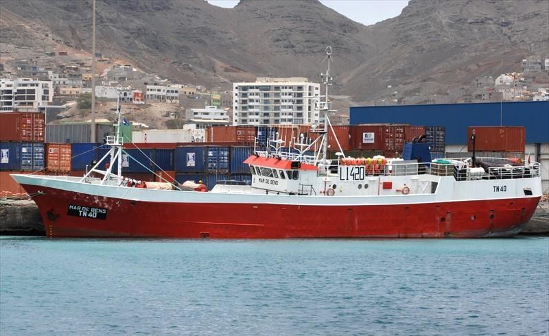 MAR DE BENS TN40   Type: Metal Hull Trawler  Size: 46.85m  Built: 1975; Kochi