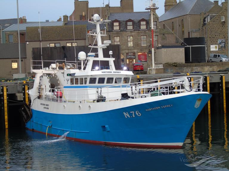 NORTHERN OSPREY N76   Type: Metal Hull Trawler  Size: 20.6m  Built: 1987; Le Guilvinec
