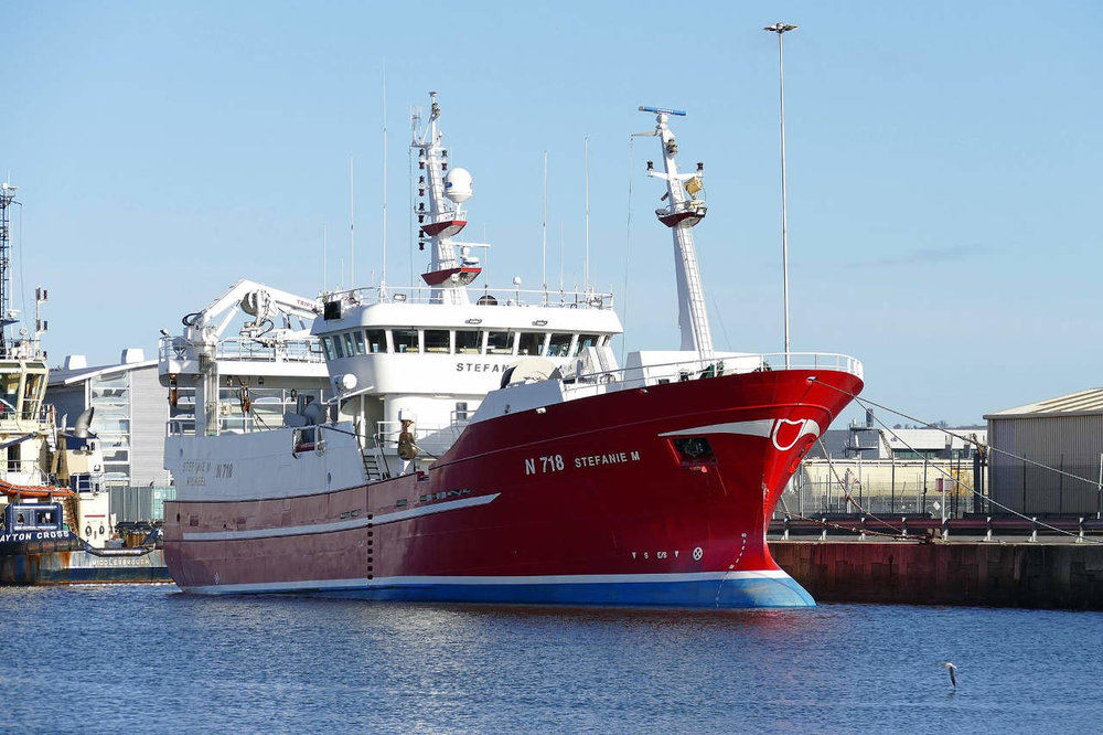 STEFANIE M N718   Type: Metal Hull Trawler  Size: 51m  Built: 2005; Denmark