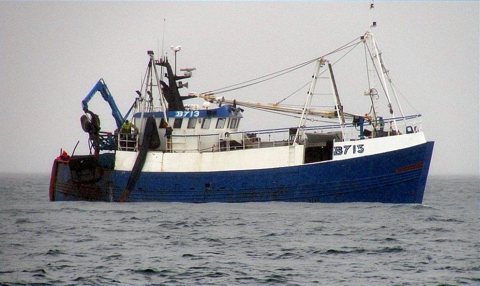 SILVER HARVESTER B713   Type:Wooden Hull Trawler  Size: 22.12m  Built: 1989; Dingle