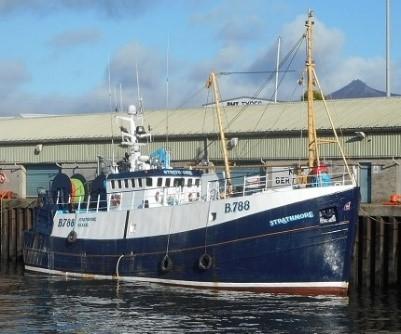 STRATHMORE B788   Type: Wooden Hull Trawler  Size: 23.09m  Built: 1984; Sandhaven