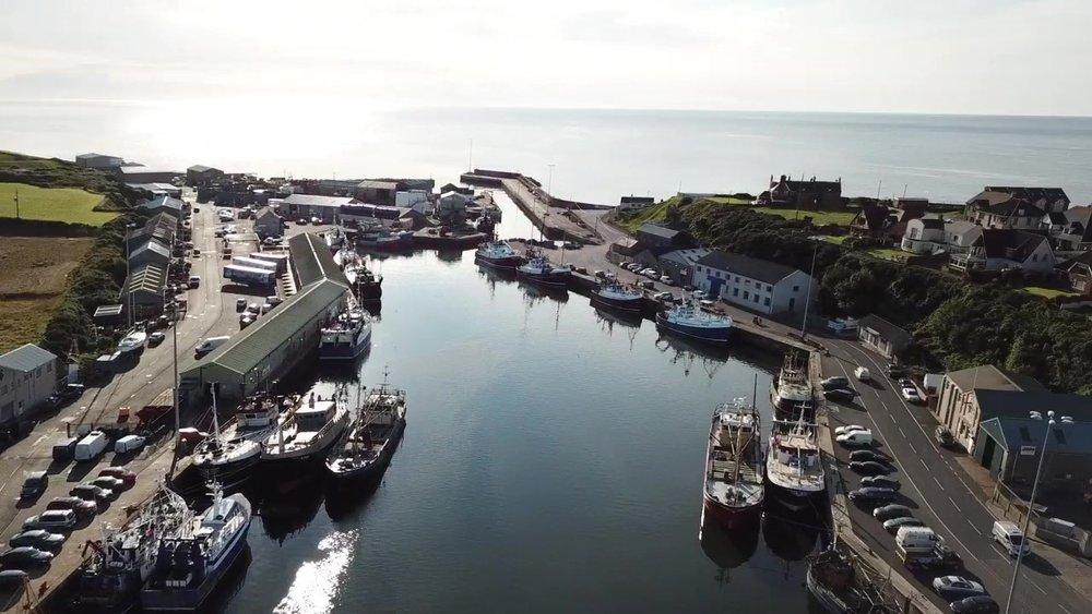 Kilkeel Harbour captured by Alan McCulla