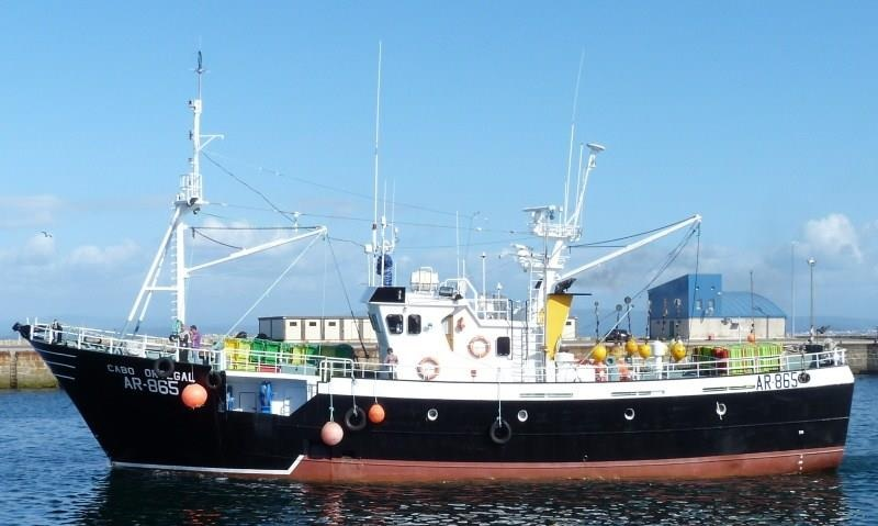 CABO ORTEGAL AR865   Type: Metal Hull Trawler  Size: 28.13m  Built: 1991; Asturias Spain