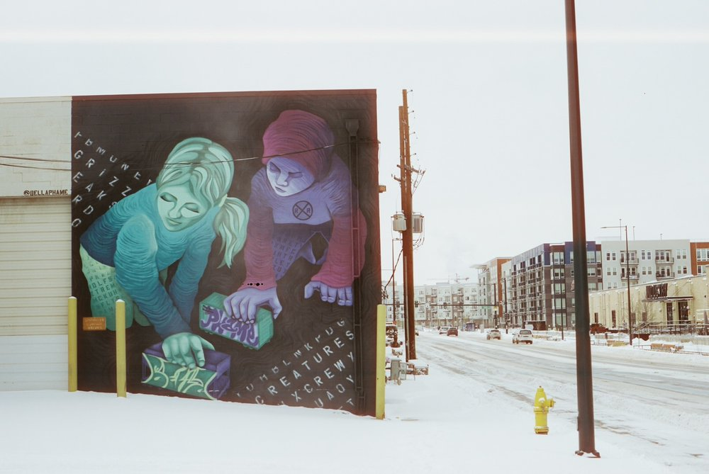 Mural on my way getting lost...