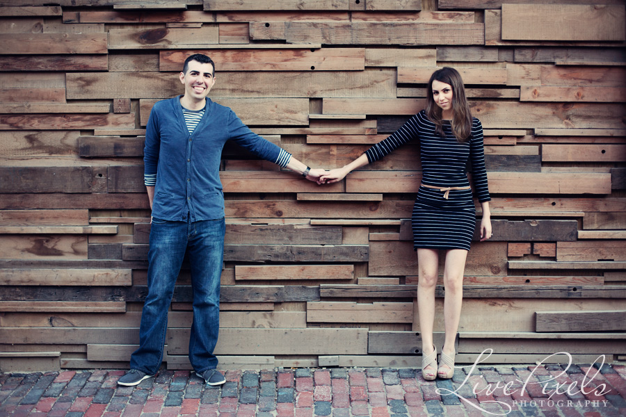 Distillery District Toronto engagement pictures