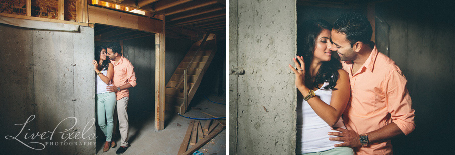 """construction site engagement photos in markham"""