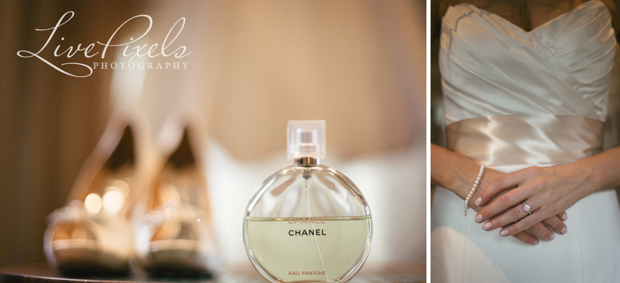 """chanel perfume, bridal shoes and a stunning engagement ring"""