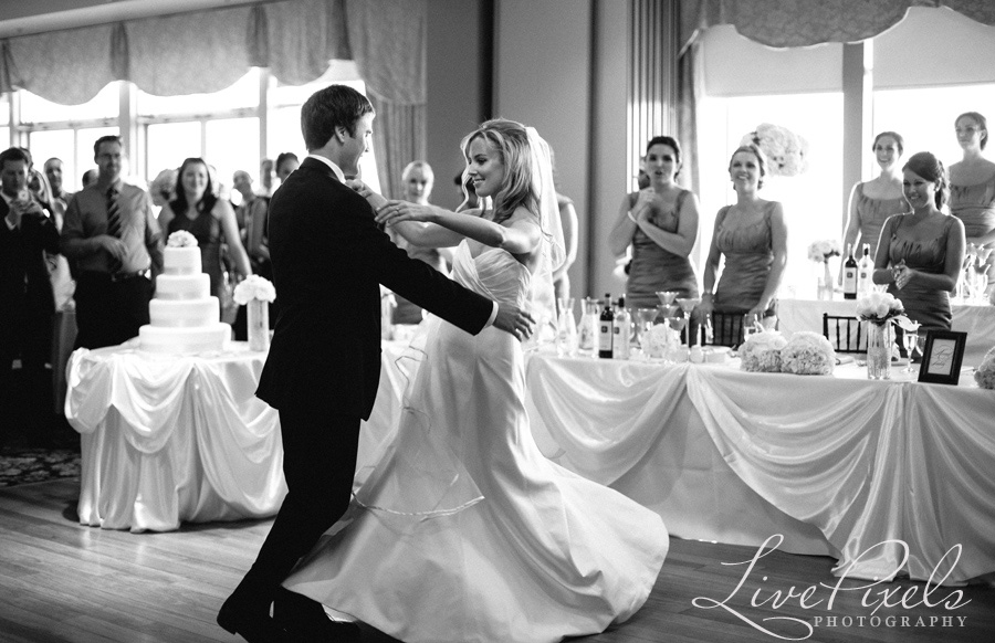 """wedding first dance at Bronte Harbour Banquet Hall in Oakville"""