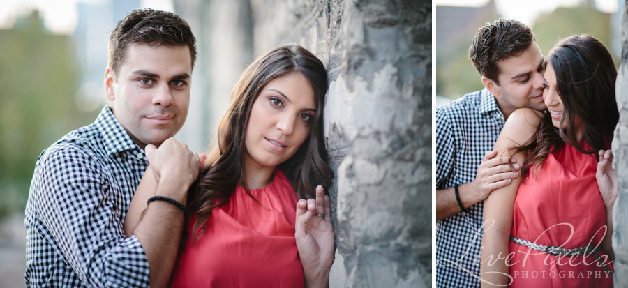 """engagement photography in the distillery district toronto"""